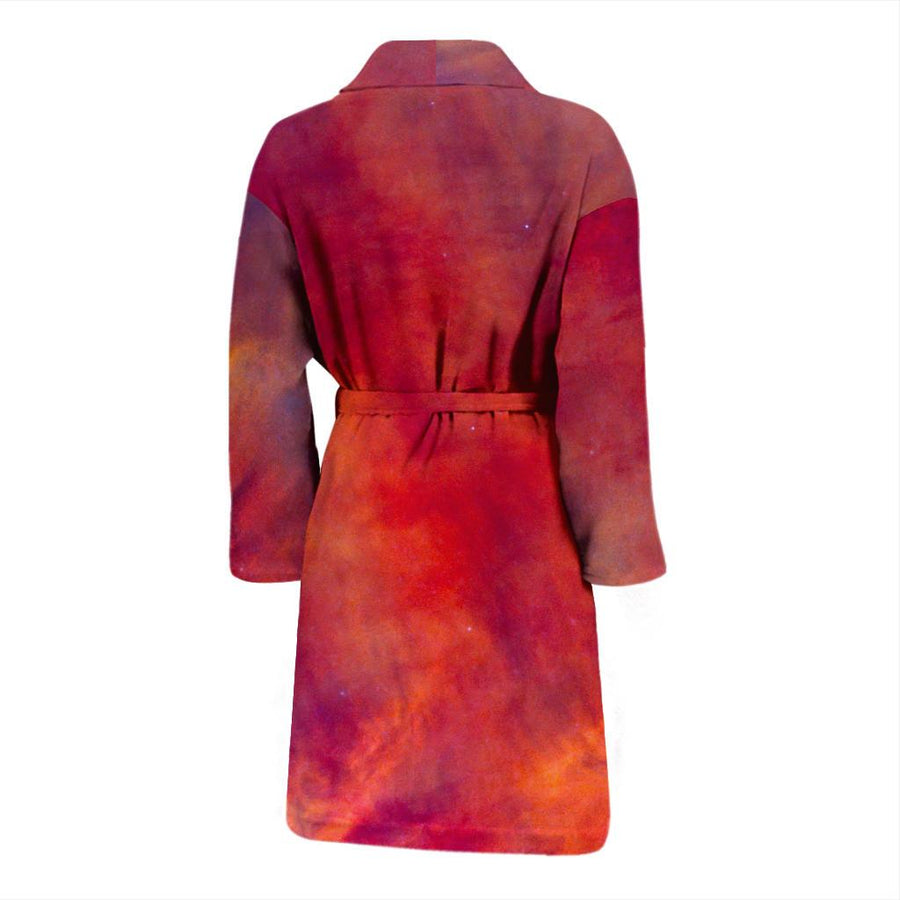 Abstract Nebula Cloud Galaxy Space Print Men's Bathrobe GearFrost