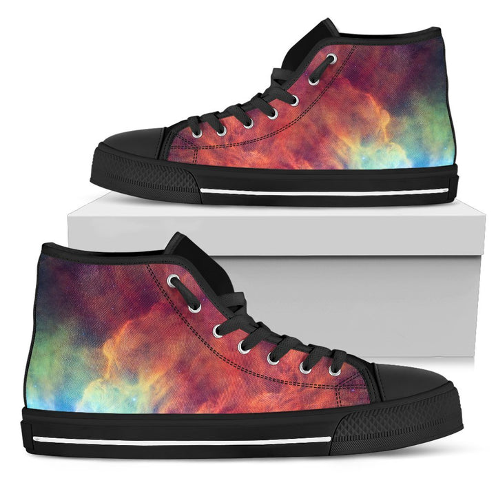 Abstract Nebula Cloud Galaxy Space Print Men's High Top Shoes GearFrost