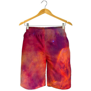 Abstract Nebula Cloud Galaxy Space Print Men's Shorts GearFrost