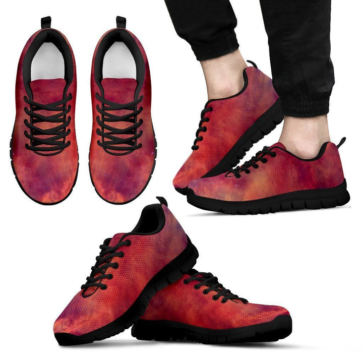 Abstract Nebula Cloud Galaxy Space Print Men's Sneakers GearFrost