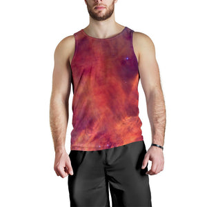 Abstract Nebula Cloud Galaxy Space Print Men's Tank Top GearFrost