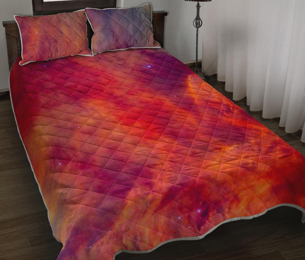 Abstract Nebula Cloud Galaxy Space Print Quilt Bed Set GearFrost