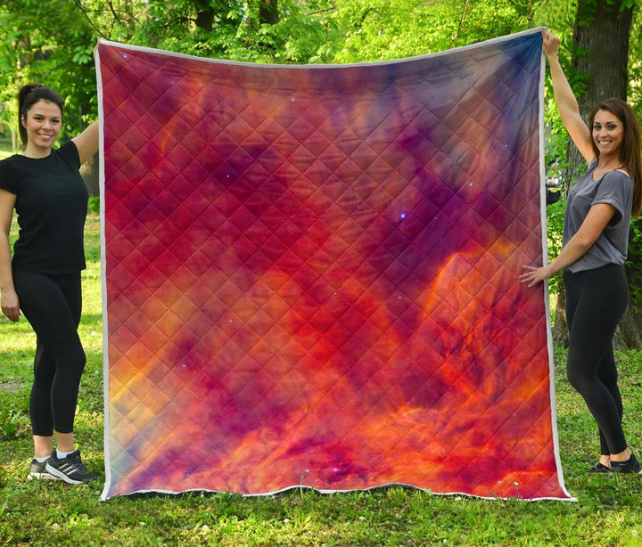 Abstract Nebula Cloud Galaxy Space Print Quilt GearFrost
