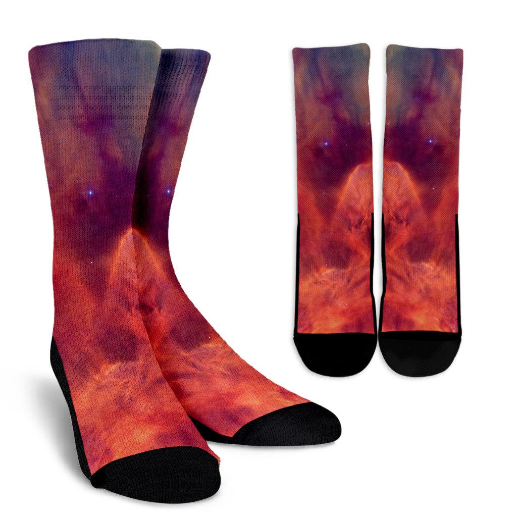 Abstract Nebula Cloud Galaxy Space Print Unisex Crew Socks GearFrost