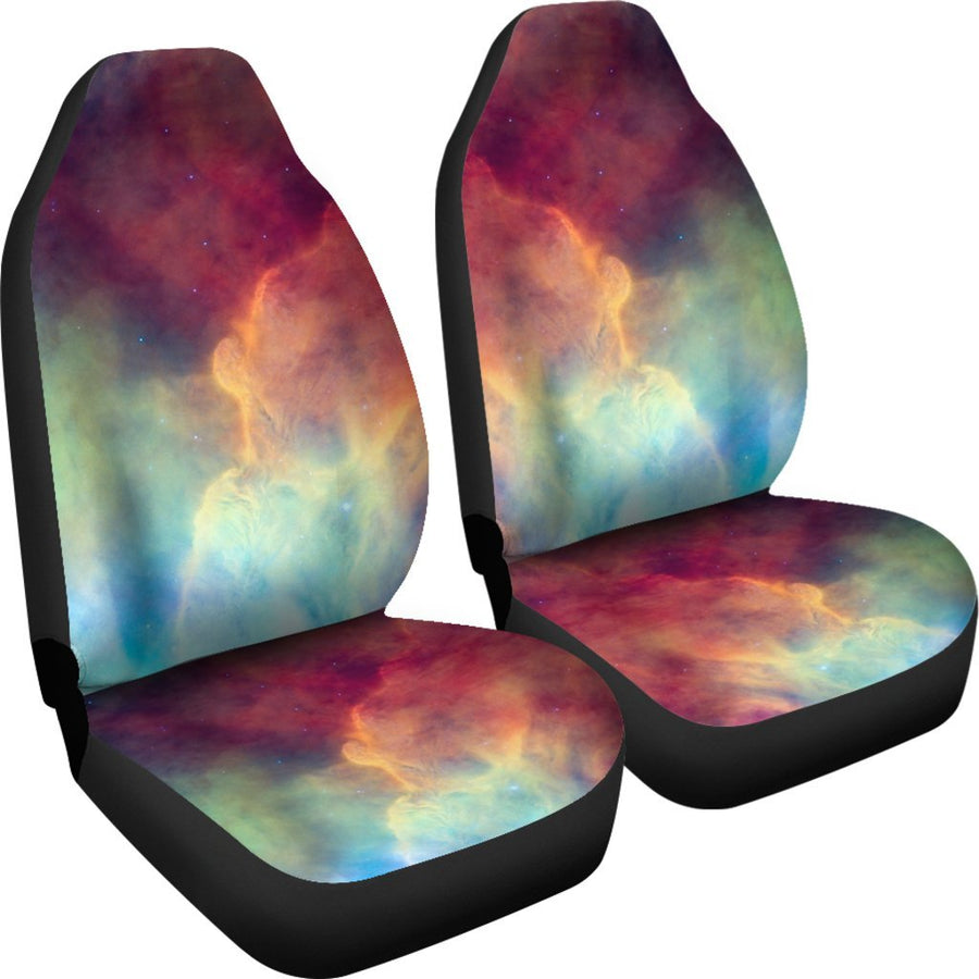 Abstract Nebula Cloud Galaxy Space Print Universal Fit Car Seat Covers GearFrost