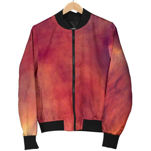 Abstract Nebula Cloud Galaxy Space Print Women's Bomber Jacket GearFrost