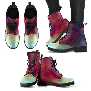 Abstract Nebula Cloud Galaxy Space Print Women's Boots GearFrost
