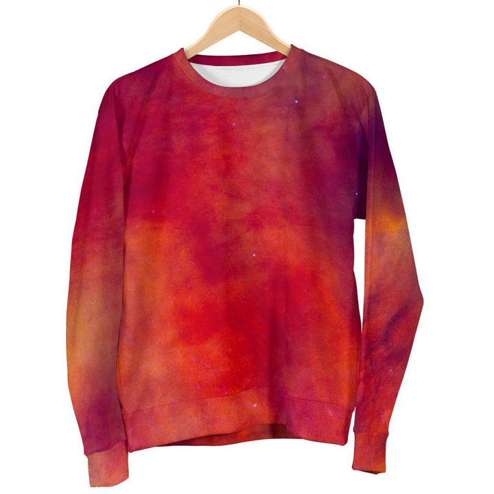 Abstract Nebula Cloud Galaxy Space Print Women's Crewneck Sweatshirt GearFrost