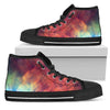 Abstract Nebula Cloud Galaxy Space Print Women's High Top Shoes GearFrost