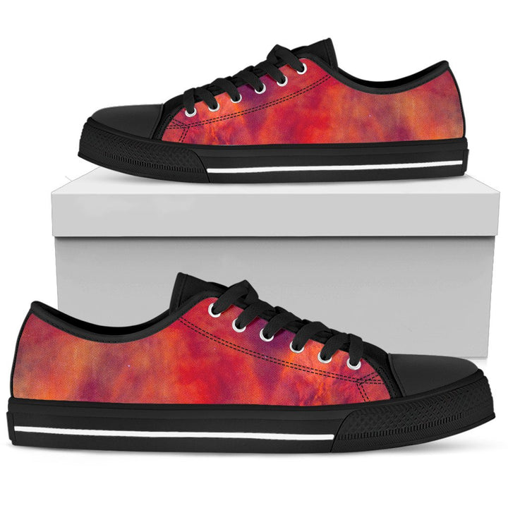 Abstract Nebula Cloud Galaxy Space Print Women's Low Top Shoes GearFrost