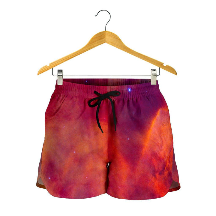 Abstract Nebula Cloud Galaxy Space Print Women's Shorts GearFrost
