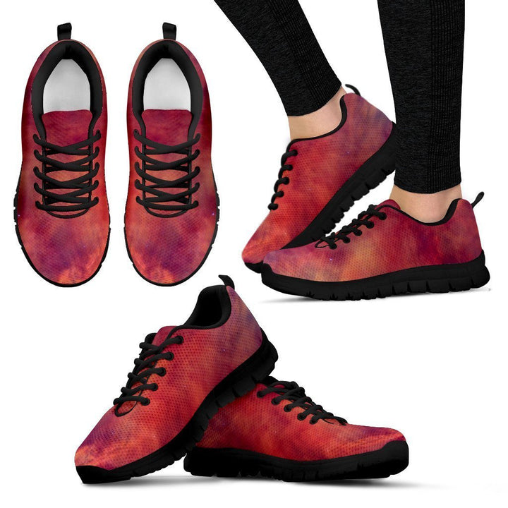 Abstract Nebula Cloud Galaxy Space Print Women's Sneakers GearFrost