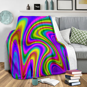 Abstract Neon Trippy Print Blanket GearFrost