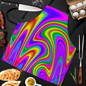 Abstract Neon Trippy Print Men's Apron GearFrost