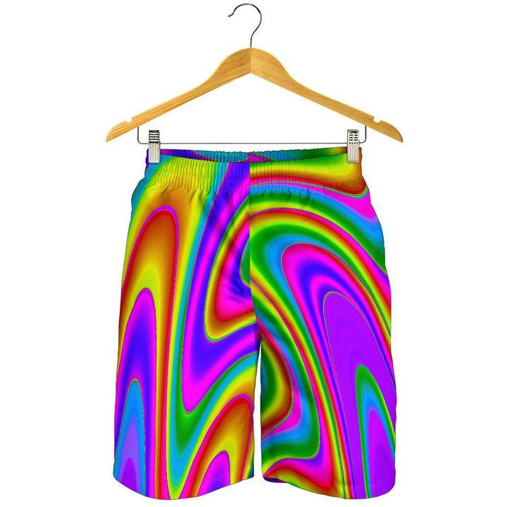 Abstract Neon Trippy Print Men's Shorts GearFrost