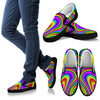 Abstract Neon Trippy Print Men's Slip On Shoes GearFrost