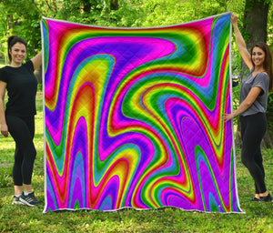 Abstract Neon Trippy Print Quilt GearFrost