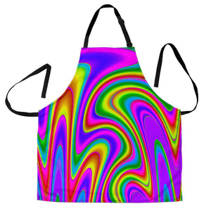 Abstract Neon Trippy Print Women's Apron GearFrost