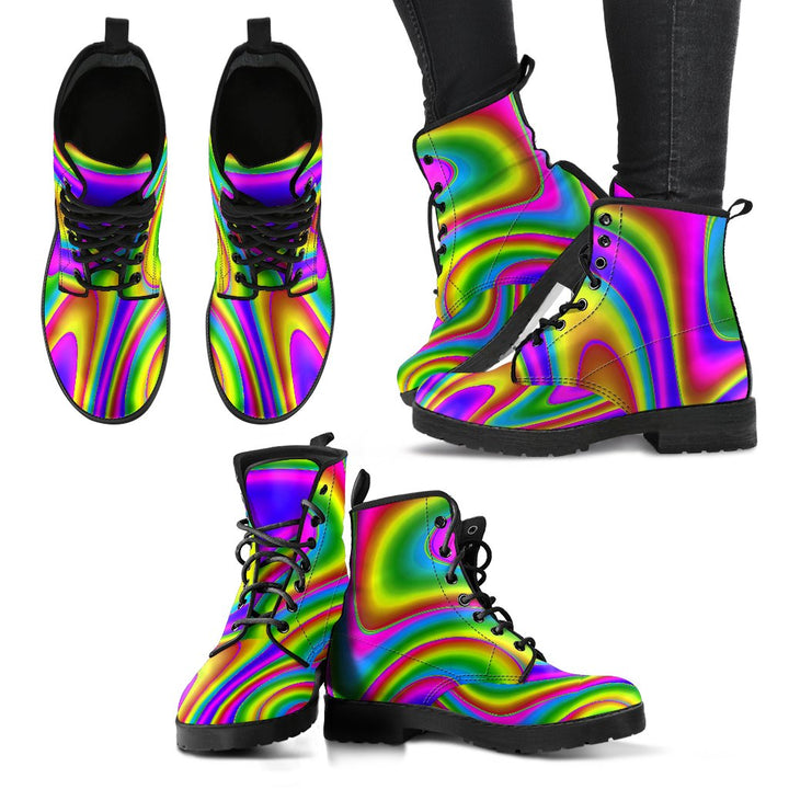 Abstract Neon Trippy Print Women's Boots GearFrost