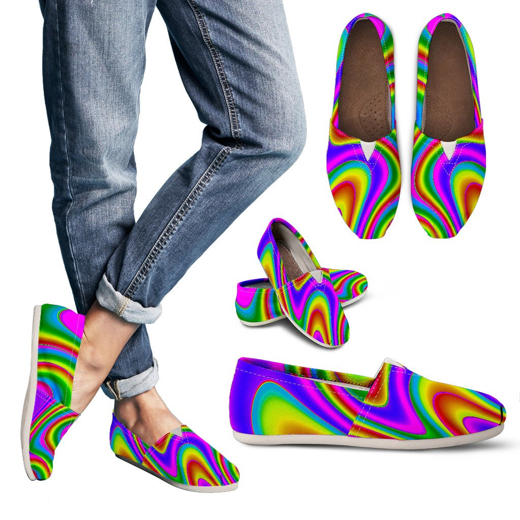 Abstract Neon Trippy Print Women's Casual Shoes GearFrost