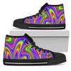Abstract Neon Trippy Print Women's High Top Shoes GearFrost