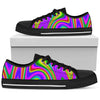 Abstract Neon Trippy Print Women's Low Top Shoes GearFrost