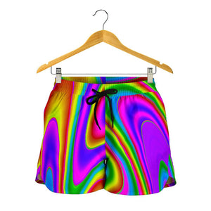 Abstract Neon Trippy Print Women's Shorts GearFrost