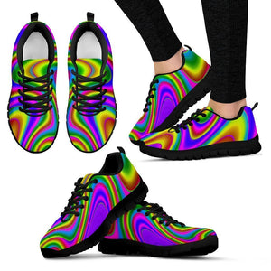 Abstract Neon Trippy Print Women's Sneakers GearFrost