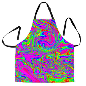 Abstract Psychedelic Liquid Trippy Print Men's Apron GearFrost