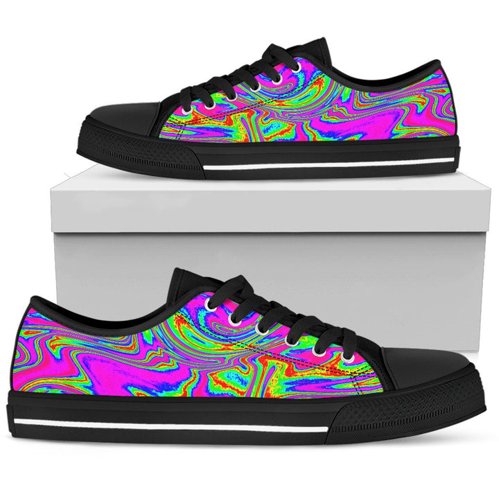 Abstract Psychedelic Liquid Trippy Print Men's Low Top Shoes GearFrost