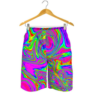 Abstract Psychedelic Liquid Trippy Print Men's Shorts GearFrost