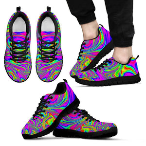 Abstract Psychedelic Liquid Trippy Print Men's Sneakers GearFrost