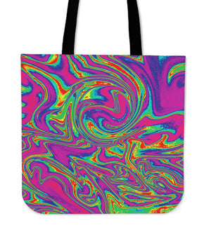 Abstract Psychedelic Liquid Trippy Print Tote Bag GearFrost