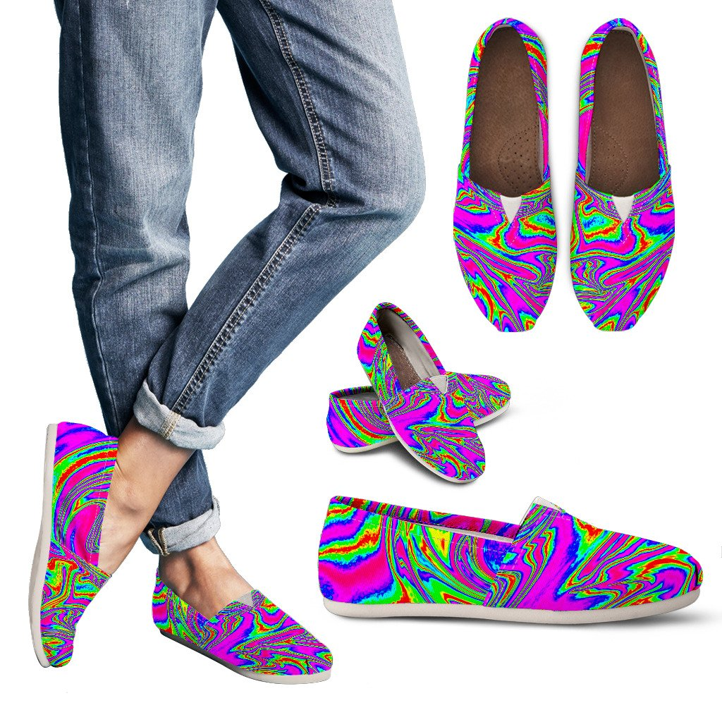 Abstract Psychedelic Liquid Trippy Print Women's Casual Shoes GearFrost
