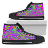 Abstract Psychedelic Liquid Trippy Print Women's High Top Shoes GearFrost