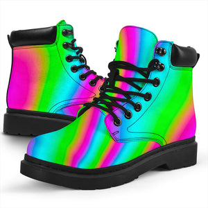 Abstract Psychedelic Trippy Print All Season Boots GearFrost