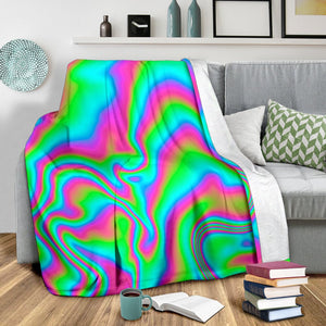 Abstract Psychedelic Trippy Print Blanket GearFrost