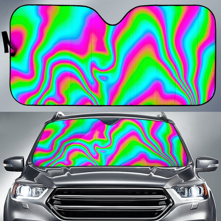 Abstract Psychedelic Trippy Print Car Sun Shade GearFrost