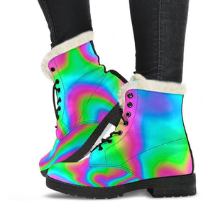Abstract Psychedelic Trippy Print Comfy Boots GearFrost