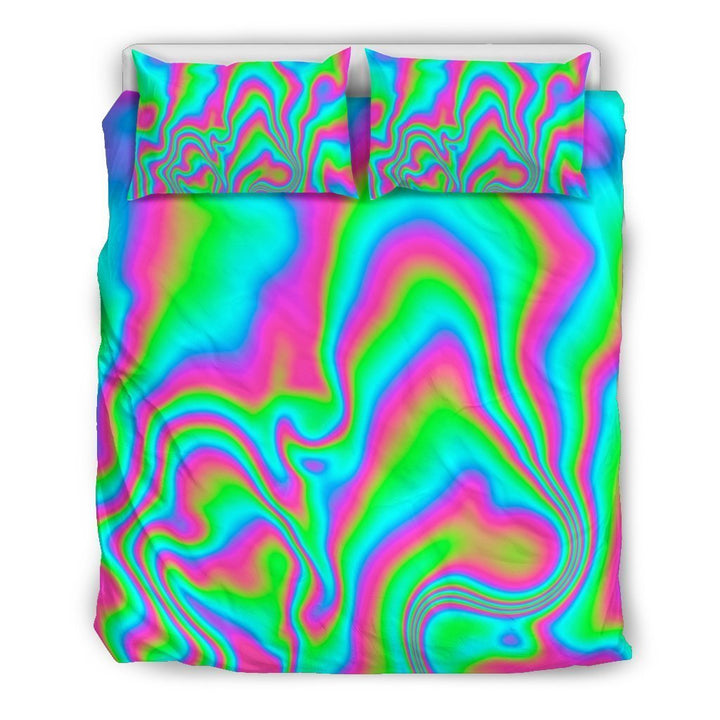 Abstract Psychedelic Trippy Print Duvet Cover Bedding Set GearFrost