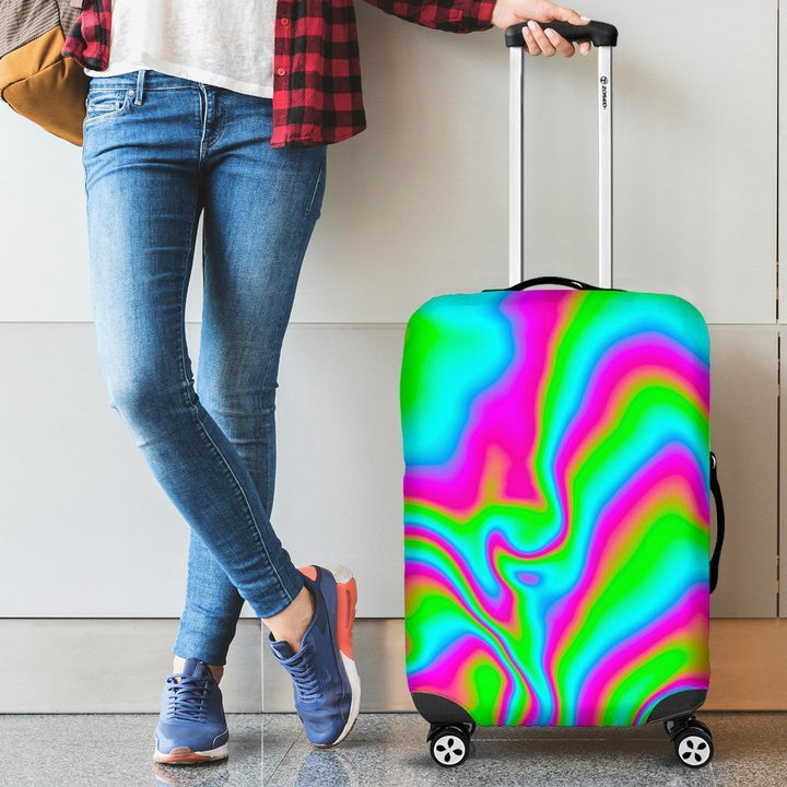 Abstract Psychedelic Trippy Print Luggage Cover GearFrost