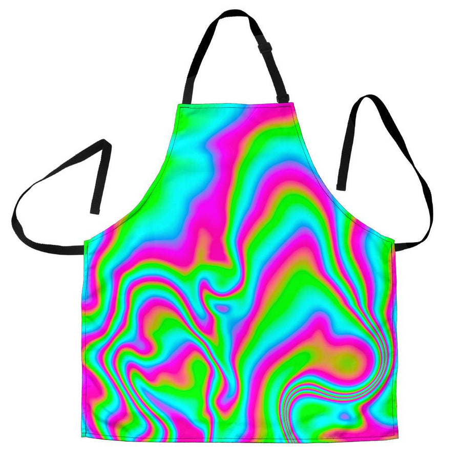 Abstract Psychedelic Trippy Print Men's Apron GearFrost