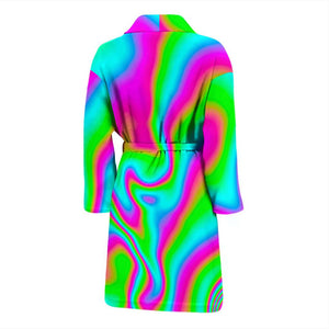 Abstract Psychedelic Trippy Print Men's Bathrobe GearFrost