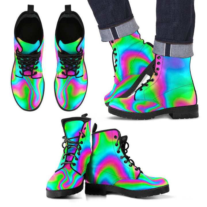 Abstract Psychedelic Trippy Print Men's Boots GearFrost