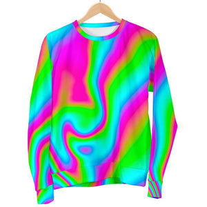 Abstract Psychedelic Trippy Print Men's Crewneck Sweatshirt GearFrost