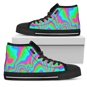 Abstract Psychedelic Trippy Print Men's High Top Shoes GearFrost