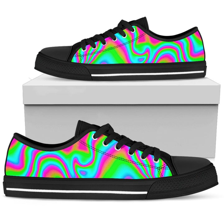 Abstract Psychedelic Trippy Print Men's Low Top Shoes GearFrost