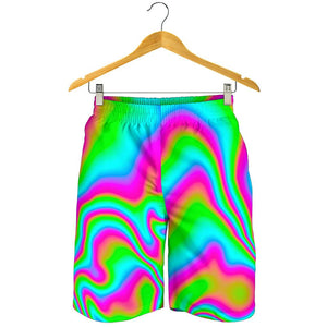 Abstract Psychedelic Trippy Print Men's Shorts GearFrost