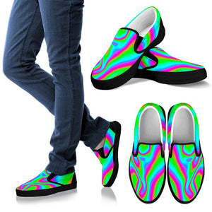 Abstract Psychedelic Trippy Print Men's Slip On Shoes GearFrost