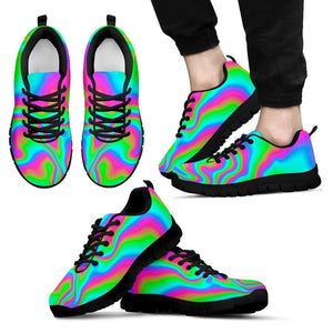 Abstract Psychedelic Trippy Print Men's Sneakers GearFrost